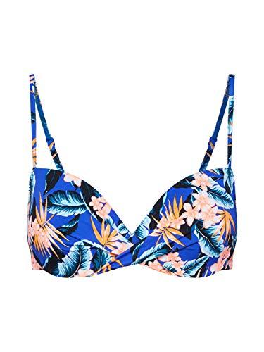 Skiny Damen Aloha Schalen BH Bikinioberteil, Mehrfarbig (Blue Hawaiian 2000), 38 (Herstellergröße: 75A)