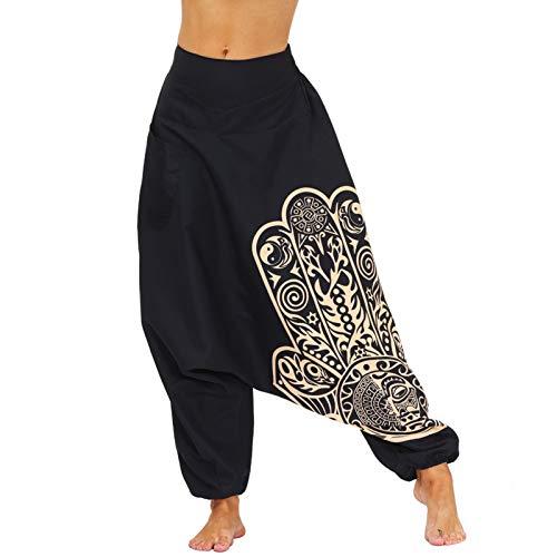 Leggins Mujer Fitness Mallas Deportivo Pilates, Pantalones de yoga alta gama de gota de mujer Pantalones de yoga Hippie sueltos Harem Pantalones de verano Casual cómodo Bohemio Bohemgy Boho Pantalones