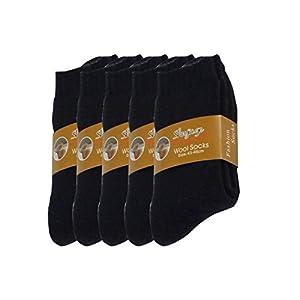 Pluto & Fox Calcetines Térmicas Gruesos Cálidos De Lana Para Hombre Color Liso Invierno Para Calentar Los Pies O Para Trabajos Duros Pack de 5 Pares
