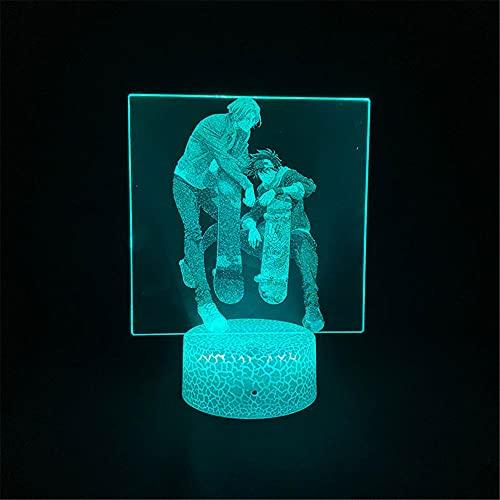 SK8 - Lámpara de luna 3D, 16 colores/7 colores con mando a distancia y tacto regulables, luz nocturna 3D como regalo de cumpleaños, lámpara para niñas de 5 3 2 4 1 6 7 8 9 10 11 años