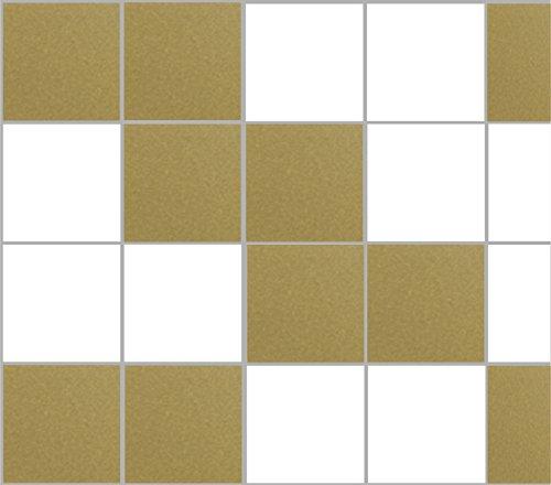 Stickerkoenig tegelstickers tegeldecoratie 25x20cm badkamer keuken 10-200 stuks hoeveelheid en keuze uit 28 kleuren 25x20cm 200 Stück goud, glanzend