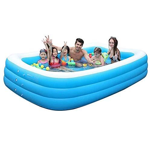 GAOTTINGSD Piscinas Hinchable Swim Centro Familiar Piscina Inflable, Rectangular Piscina for niños, fácil de Montar, Azul, Gigante Piscina, Plegable y móvil Piscina (Size : 150 * 110 * 50CM)