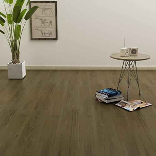SOULONG PVC Klickboden Dielen Laminatboden Terrassendielen Bodenbelag für alle Arten von festen und Ebenen Oberflächen, 91,4 x 15,2 cm, Stärke 3 mm, 4,46 m², Braun