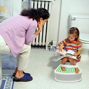 Kids Green Step Stool - Great for Potty Training, Bathroom, Bedroom, Toy Room, Kitchen, and Living Room. Perfect for Your House