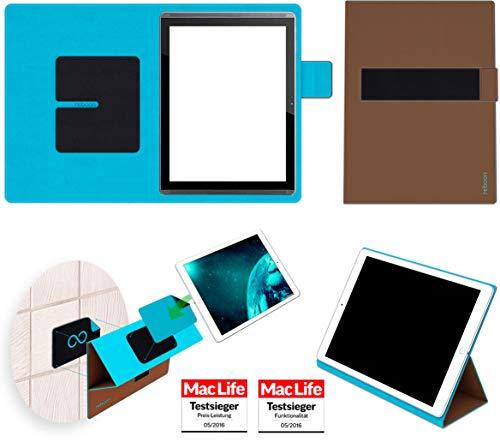 reboon Hülle für HP Pro Slate 12 Tasche Cover Case Bumper | in Braun | Testsieger