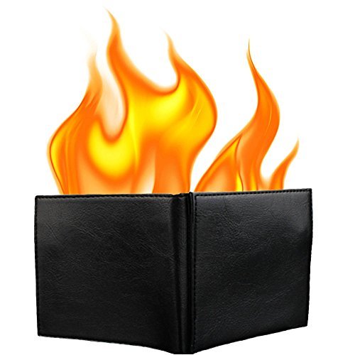 KKTech Magic Flaming Fire Wallet Magician Stage Street Inconceivable Show...