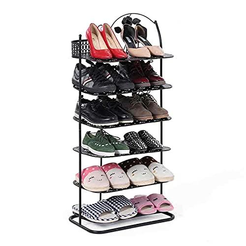 Zapatero 6 Niveles Zapato Rack Almacenamiento Hogar Organizador Zapato Estante Moderno Zapato Gabinete para Entrada Salón Salón Salón Caja de Zapatos