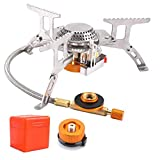 Camping Stove with Piezo Ignition Portable Camping Gas Stove Gas Cooking Burner with Carrying Case for Camping Picnic