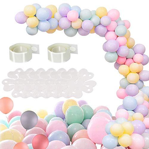 Tuofang Palloncini in lattice per feste, 100 pcs 10 Pollici Macarons Colorati Palloncino,...