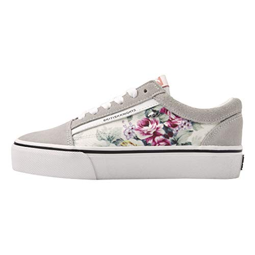British Knights Damen Mack Platform Sneaker, Weiß (Flower/Off White 09), 36 EU