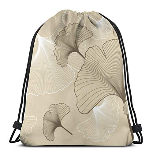 Nonebrand Ginko - Mochila de viaje con cordón para hombre y mujer, bolsa de deporte, bolsa de almacenamiento portátil para camping, senderismo, natación, compras, viajes en la playa