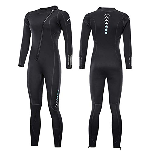 Womens Full Length 3 Mm Winter Wetsuit Adult Neoprene Surfing Diving Wetsuit Swimming Sailing for Girl LadyXL