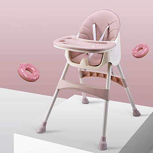 Jian E Babystoel - metaal, PU-stoelbekleding, 6 maanden - 4 jaar oude baby universeel multifunctioneel apparaat, verstelbaar, gemakkelijk te reinigen, tafelstoel - verkrijgbaar in 3 kleuren