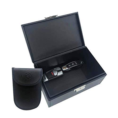 Ironstripe Keyless go Schutz Autoschlüssel Box, Extra groß 19 x 12 x 9 cm Faraday Box, Diebstahlschutz Keyless go Schutz Box, Extra Faraday Schlüsseltasche