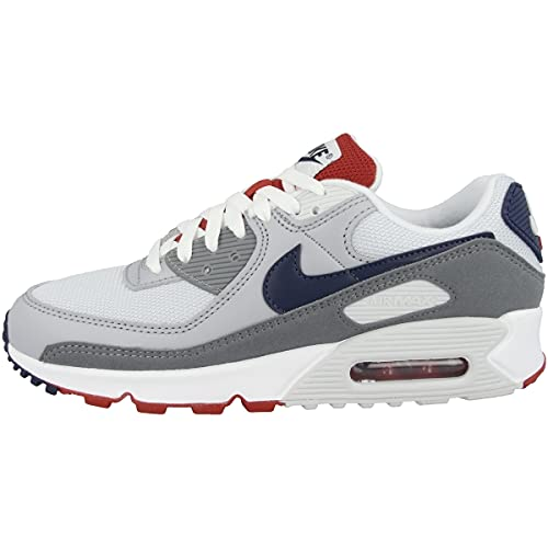 Nike Scarpe da ginnastica da uomo, Air Max 90, grigio chiaro, Grigio (grigio chiaro, Pure Platinum Midnight Navy Wolf Grey), 41 EU