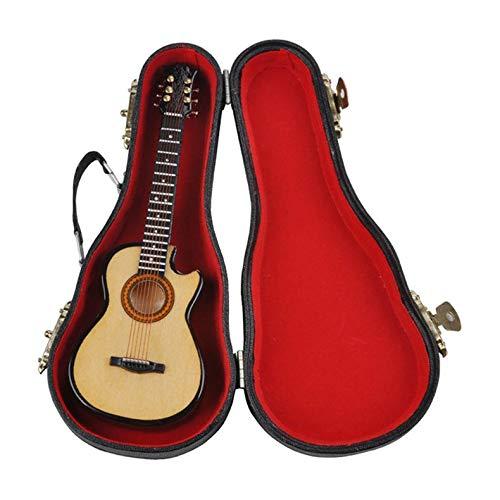 ghfcffdghrdshdfh MG-245 Mini Musical Ornaments Wooden Craft Miniatuur Gitar voor Home Decor