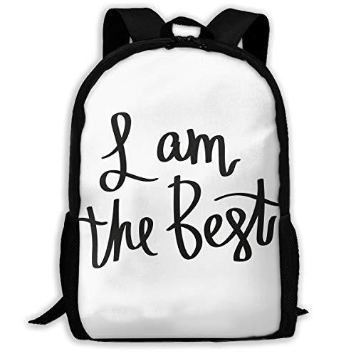 FBHA Travel Backpack Laptop Backpack Large Diaper Bag - I Am The Best Backpack School Backpack for Women & Men