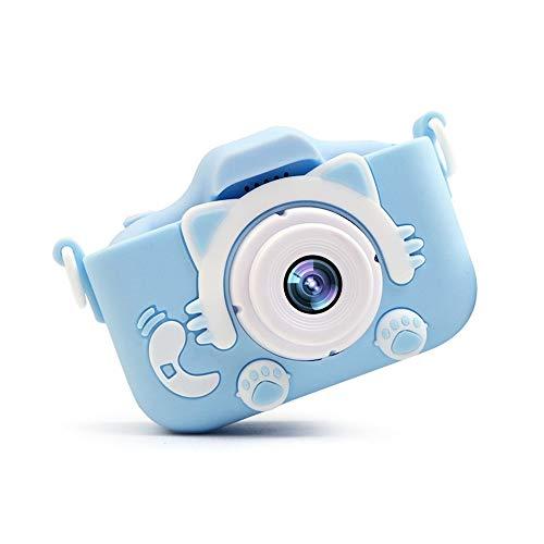 Set de Cámara de Fotos Digital para Niños,Cámara Infantil con Tarjeta de Memoria Micro SD 32G,Cámara Digital Video cámara Infantil para Niñas Regalos de cumpleaños,1080P,20 millones de píxeles (Azul)