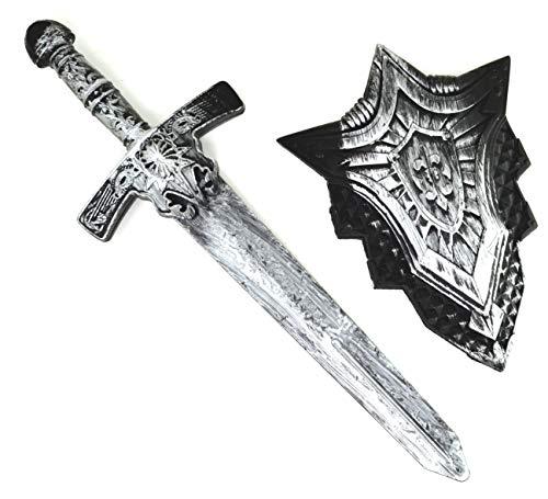 ARUNDEL SERVICES EU Espada Caballeros Espada y Escudo Accesorio Caballero de Juguete Juego de Espada Juguete Guerrero Espada Infantil Dragones Guerrero