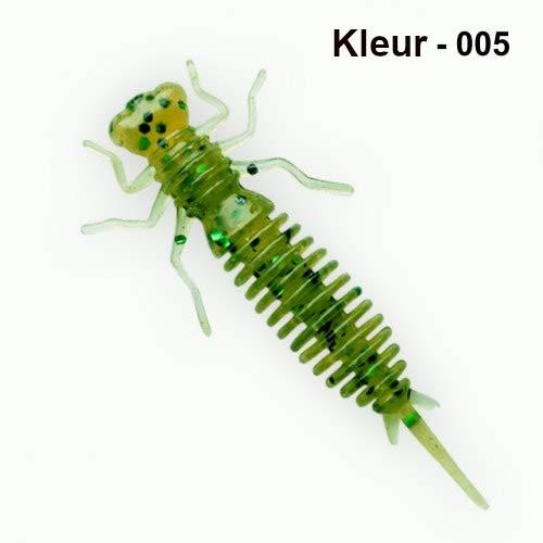 LIOOBO 10 ST/ÜCKE 8 cm 2,3g Weiche Angelk/öder K/öder Salzwasser S/ü/ßwasser Gummi Fischk/öder Zuf/ällige Farbe