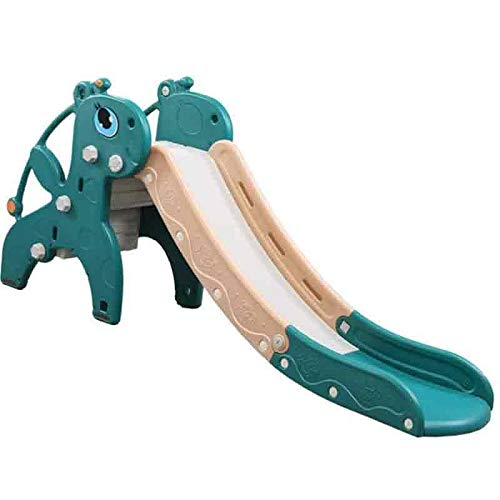 MROSW Family Version of Folding Slide, Suitable for Children Aged 2-8 Years Old Climbing Slide Amusement Park Toys (Color: Green, Size: 180 * 45 * 88Cm)