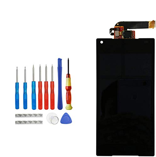 Upplus Display LCD di Ricambio Compatibile per Sony Xperia Z5 Compact Mini E5803 E5823 Display di Ricambio LCD Touch Screen Digitizer Assembly Glass with Toolkit (Nero)