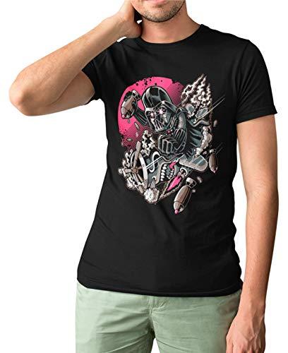 Camisetas La Colmena 5399-Father Attack (Negro S)