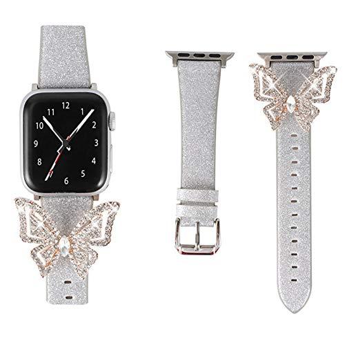 Compatible para Apple Watch Correa 38 mm 40 mm Correas iWatch Mujeres Niñas Correa de muñeca con Diamantes de imitación para Apple Watch SE e iWatch Series 6 5 4 3 2 1,38mm/40mm