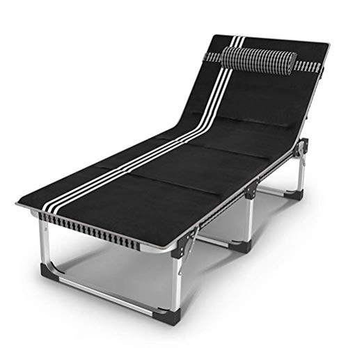 ZKORN Fauteuil inclinable, Chaise de détente Pliable Lit de Plage Ultra-léger Compact pour Camp de Base randonnée et Chasse Lit de Bureau Portable Homme Femmes Adultes dorment au Bureau
