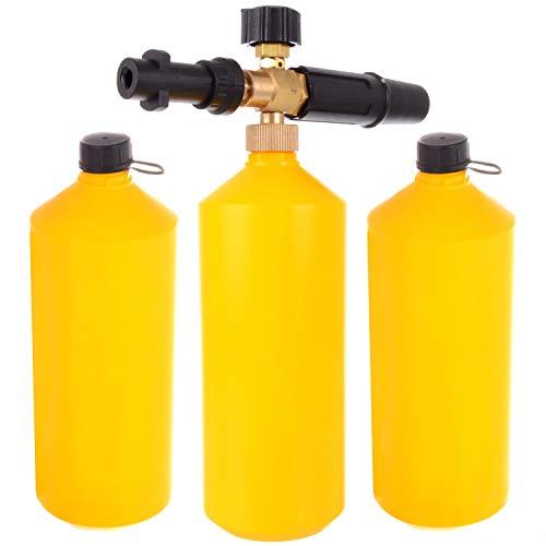 Schuimlans hogedruk-schuimkanonsproeier voor hogedrukreinigers Karcher K Serie K2 K3 K4 K5 K6 K7 + 2x containers