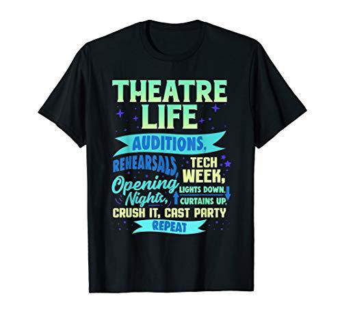 Theatre Nerd Actor Gift Shirt Funny Musical Theater Thespian T-Shirt