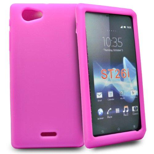 Accessory Master 5055716303506 - Funda para Sony Xperia J ST261i, Rosa