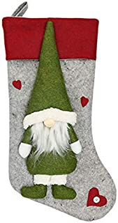 TOOGOO Christmas Stocking Santa Claus Candy Gift Bag Xmas Tree Hanging Decor Gray