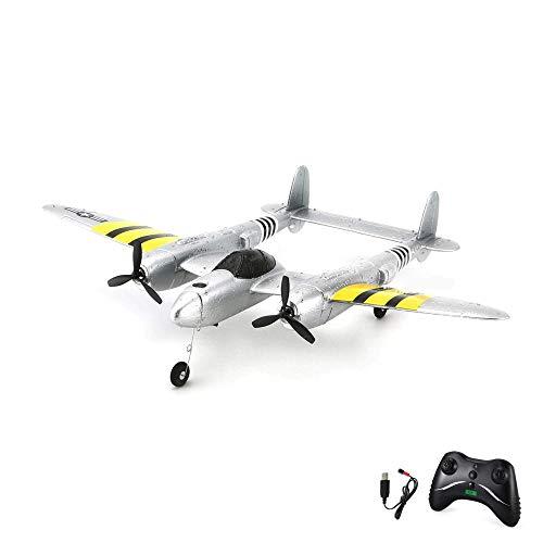 Himoto HSP RC ferngesteuertes Mini Flugzeug mit Akku, Fernsteuerung und USB-Ladekabel, Modell mit 2.4GHz und Gyro, geeignet für Anfänger und Profis, Komplett-Set