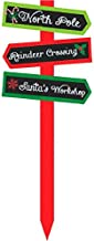 amscan Christmas Multicolored Cardboard Arrow Yard Stake | Party Decoration