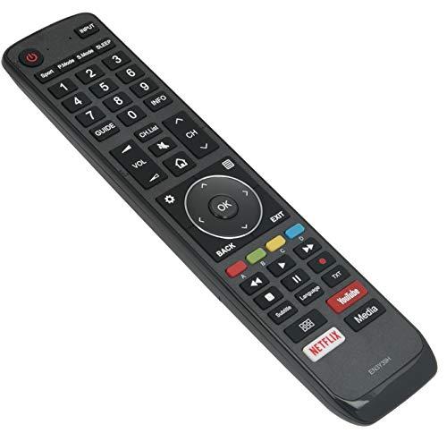 ALLIMITY EN 3 Y 39 H Reemplace el Control Remoto por Hisense 4K ULED HDR TV H75U9A H65AE6400 H55A6550 H43AE6400 H65U9A H55U7A H50AE6400 H43A6550 H65U7A H55AE6400 H50A6550