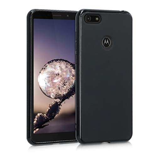 kwmobile Hülle kompatibel mit Motorola Moto E6 Play - Handyhülle - Handy Case in Schwarz matt
