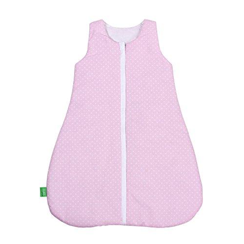 lulando-Saco de dormir para bebé para recién nacidos y niños pequeños Verano Saco de dormir y saco de dormir de invierno para su bebé color: White Dots/rosa, tamaño: 90Cm