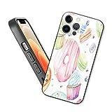 Sweets - Funda para iPhone 12 Pro Max, diseño de macarón, magdalenas, donuts, azúcar, sabroso, delicioso, diseño de...