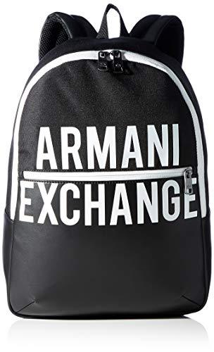 Armani Exchange Mix and Contrast Backpack, Mochila. para Hombre, negro, Einheitsgröße