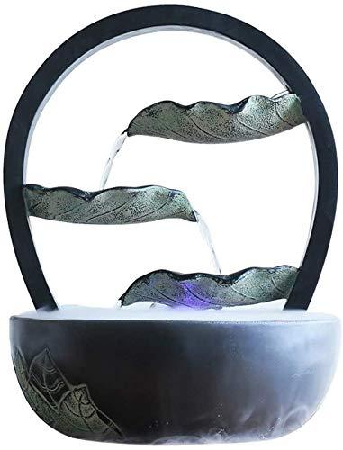 WERT Fuente de Mesa Creativa, Fuente laminada de Escritorio, pequeña Fuente de Acuario, humidificador, Manualidades, decoración del hogar, Fuente de Agua de Mesa Interior