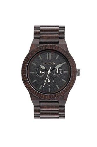 Wewood Herren-Armbanduhr Kappa Analog Quarz One Size, schwarz, schwarz