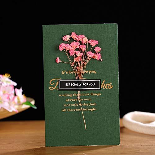 HUDETIE natuur-drogbloemen-papier-kaarten-vouwen kunst wenskaarten-kerstverjaardagsfeest-huwelijks-uitnodigingsgroetkaarten 1