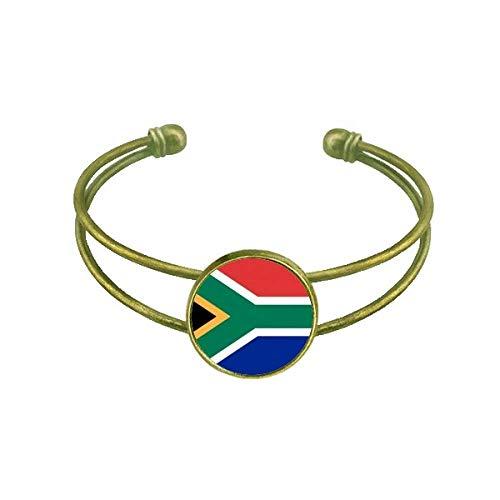 DIYthinker Südafrika Nationalflagge Afrika Land Armband Armreif Retro Offene Manschette Schmuck