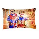 Romantic Deer Hen-ry Dan-ger Pillow Cases Super Soft Bedding Sheets and Pillow Case with Hidden Zipper for Boys/Girls/Teen,20'X30'