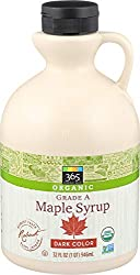 365 Everyday Value, Organic Pure 100% Grade A Maple Syrup, Dark Color Robust Taste, 32 Fl Oz (Packag