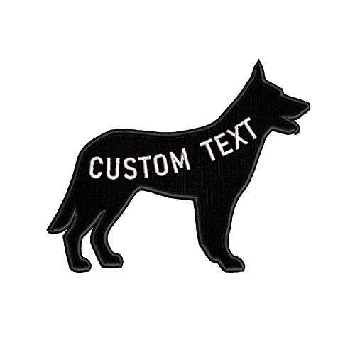Custom Personalized Your Name Dog Breed German Shepard Embroidered Premium Patch DIY Iron-on or Sew-on Decorative Badge Emblem Vacation Souvenir Travel Gear Clothes Appliques