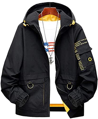 Más Tamaño Patchwork Primavera Otoño Chaqueta Hombres Streetwear Bomber Ropa Plus