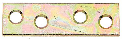 GAH-Alberts 336417 Flachverbinder | schmal | galvanisch gelb verzinkt | 50 x 14 mm | 12er Set
