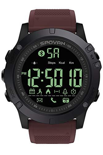 Smartwatch Herrenuhr 5ATM Wasserdicht IP68 Schwimmen Schrittzähler Kamera Bluetooth Fitness Tracker Armband Sport iOS Android Kompatibel